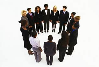 circle of business people